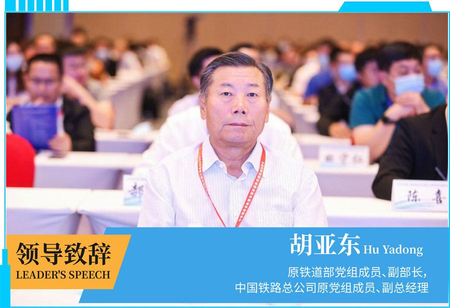 原铁道部党组成员副部长,原铁路公司党组承运,中国交通运输协会胡亚东会长