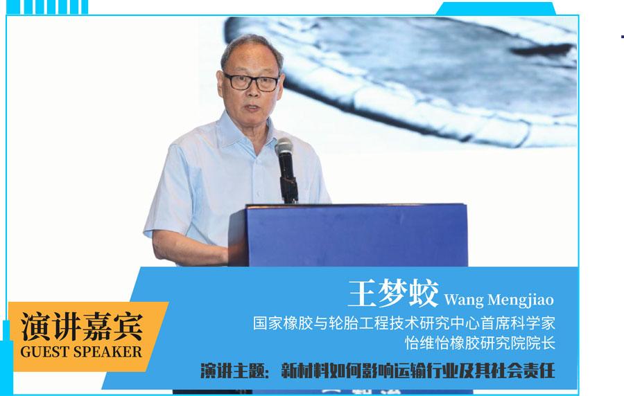 国家相交与轮胎工程技术研究中心首席科学家细怡维怡橡胶研究院院长王梦蛟院长