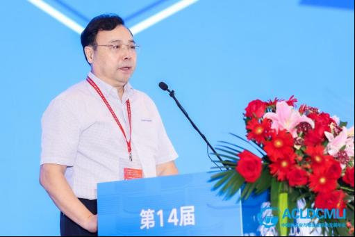 交通运输部运输服务司原巡视员王水平发表主旨演讲